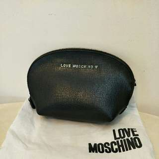 BN Moschino Black Leather Pouch