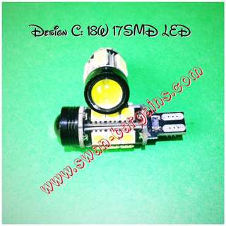 W16W T15 Super Bright White 17 SMD Car LED Reverse Light Bulb w Projector Lens