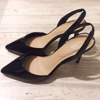 Aldo Heels - Black Patent Leather