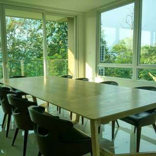 11-12 feet dining/meeting table