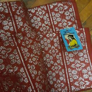 Original Red Songket With Selendang