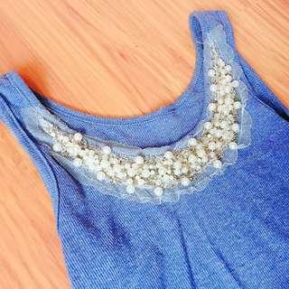 購於韓國小店-超質感珍珠蕾絲背心#女裝九九