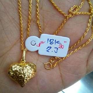authentic gold necklace/pendant