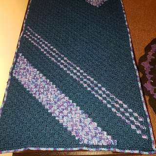 unique hand crafted cot blanket 125 x 70 cm