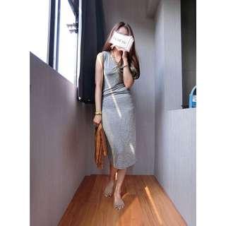 灰色質感長裙#女裝九九