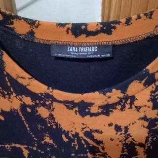 Zara Trafaluc Leather Dress