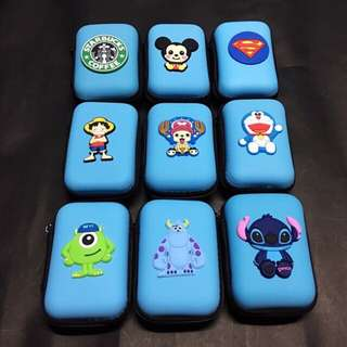 CHARACTER SQUARE EARPHONES POUCH/ COIN PURSE