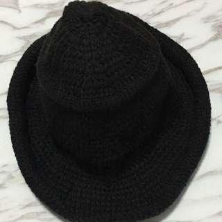 針織捲邊紳士帽寬沿帽漁夫帽