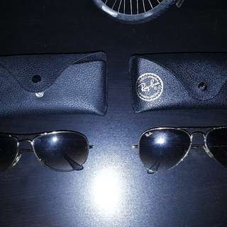 Authentic Ray BAN Aviator Sunglasses With Case