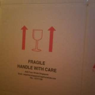 New Carton Boxes + Bubble Wrap
