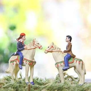 Horse riding couple