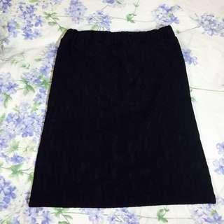 日本帶回質感棒棒黑色蕾絲裙