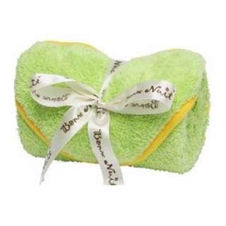 是包巾也是毯子,攜帶超方便 Bonne Nuit Baby 雪柔綿包巾- 綠色/黃(0/3yrs) ‧100%台灣研發製造