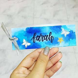 Customisable Bookmarks Bookmark Bag Gifts Tag Tags Door Gift Personalised Customised Boy Girl Girls Boys Cards Kids Birthday Goodie Children Wedding Cheap kid Children's Day Calligraphy Classmates Party School Friend Friends Classmate Cards affordable