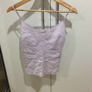 Mark And Spencer Purple Spaghetti Strap Blouse Top