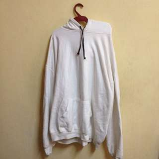 White Hoodie Jacket 100% Cotton