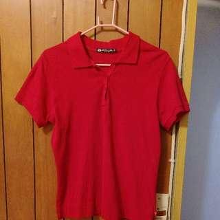 紅色Hang ten Polo衫