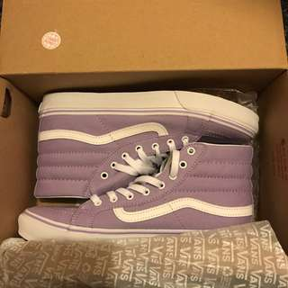 Light Purple Hight Top Vans
