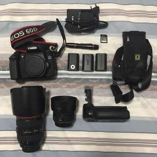 Canon 24-70 f2.8 mk1 + 60D set (REPRICED! MUST GO!)