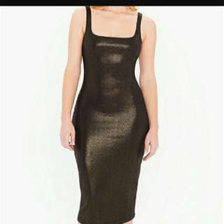 Sparkly gold bodycon dress American Apparel