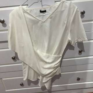 Mezs white top