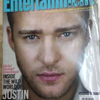 Justin Timberlake Entertainment Weekly Magazine Collectible