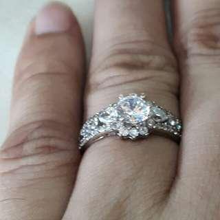 Engagement Ring 18k White GOLD
