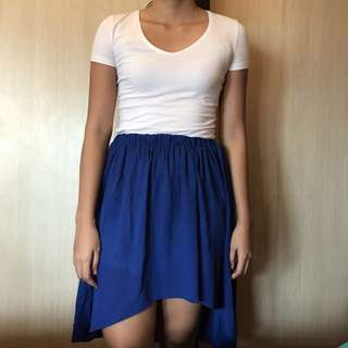 Hi-low Electric Blue Skirt