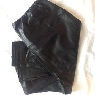 Aritzia Wilfred Daria leather leggings