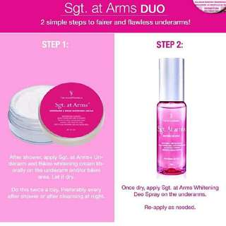 Sgt At Arms Whitening Deo Spray Duo