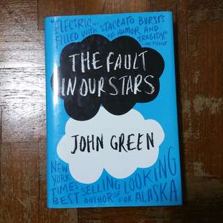 The Fault in our Stars by John Green (1st edition hardcover)