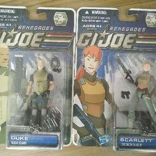 G.I.Joe Renegades Scarlett & Duke