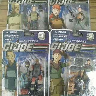 G.I.Joe Renegades Scarlett, Duke, Ripcord & Tunnel Rat