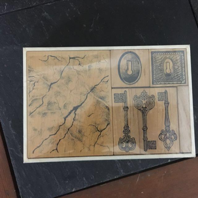 貝登堡/牧莎/哈印組合絕版鍛造鑰匙印章