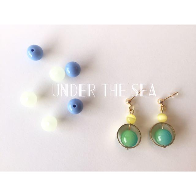 青蘋果 糖果耳環