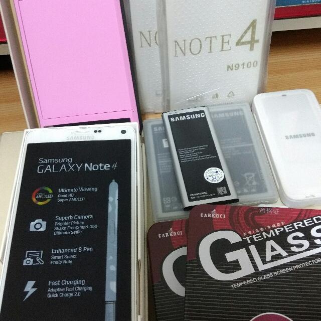 二手 三星 SAMSUNG NOTE4 白色 大全配 智慧型手機