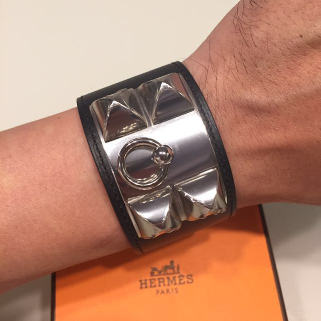 💯% Authentic Hermes CDC New Hermes Collier De Chien Bracelet Black Swift  Leather, Luxury, Accessories on Carousell c249a162988