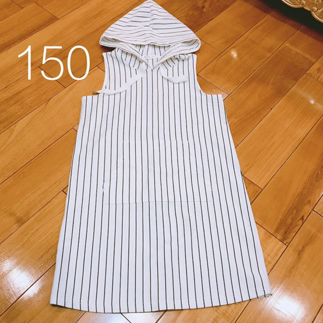 全新 Net 連帽黑白條紋裙