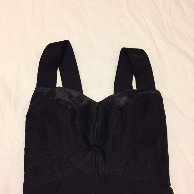 ( Worn Once) Fitted Black Dress