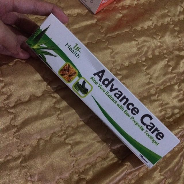 Advance care toothpaste.