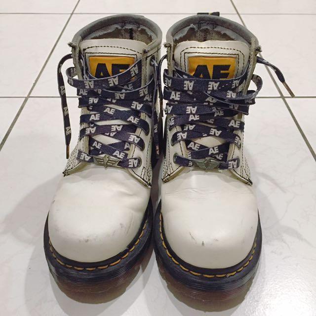 AE正版白色馬丁鞋 37號