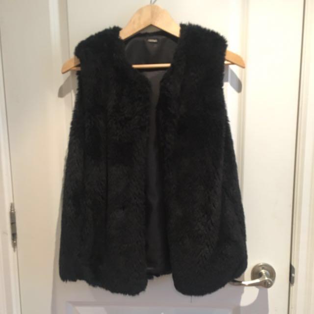 Aldo black Fur Vest