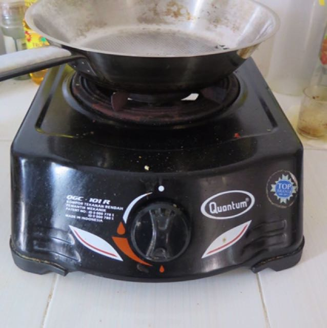 ALL MUST GO TOMORROW-Single stove, regulator and gas