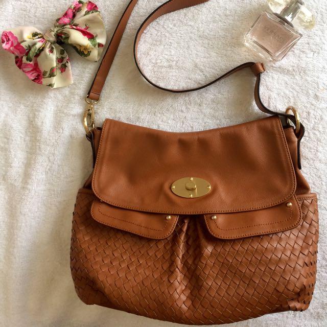 Anne Klein Leather Sling Bag