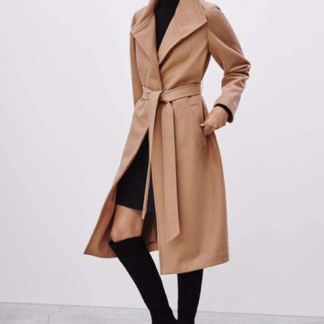 Aritzia camel wool coat