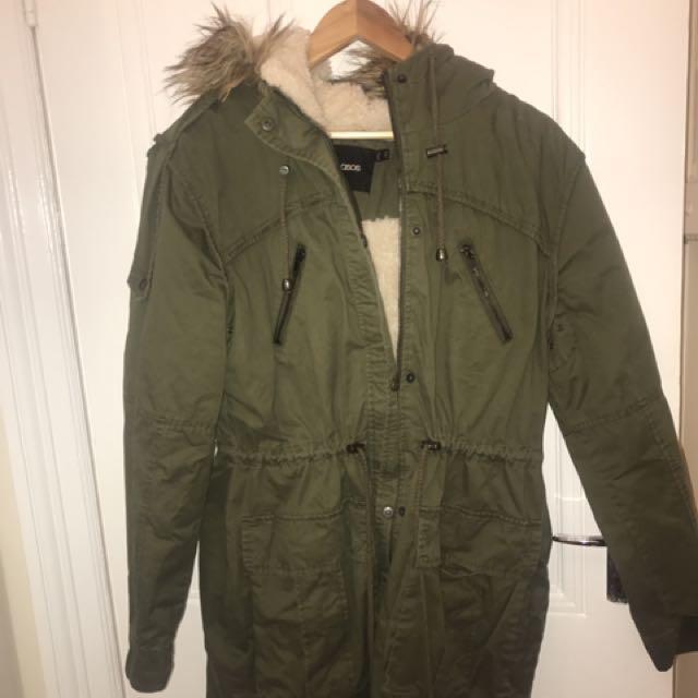 Asos Parka Jacket Coat Size 10