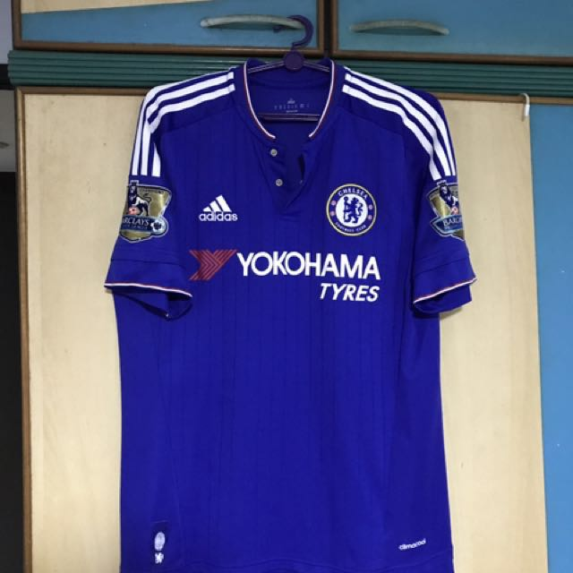 best service cee18 fcbbe AUTHENTIC CHELSEA 15/16 HOME KIT + NAME SET + Gold BPL patch ...