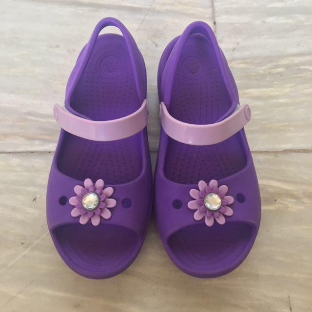 360e587944ab7 Authentic Crocs Keeley Mini Wedge peep toe sandals size C12