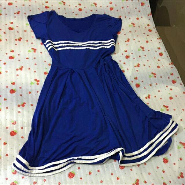 Blue Free Size Dress