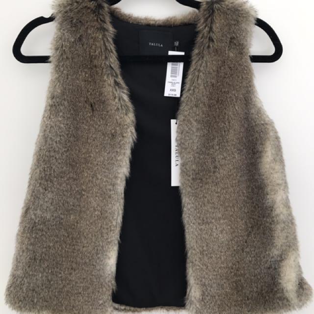 BNWT Talula fur vest